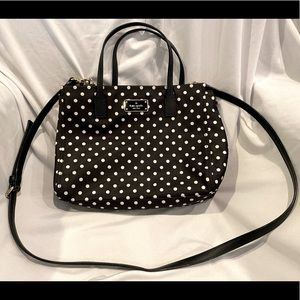Kate Spade Black and White Polka Dot Handbag